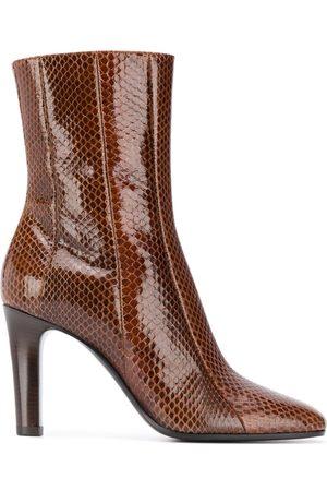 Saint Laurent Naiset Nilkkurit - Snakeskin effect ankle boots