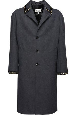 Maison Margiela Studded Single Breast Wool Coat