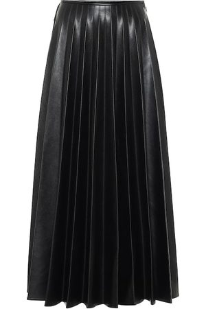 Peter Do High-rise faux leather skirt