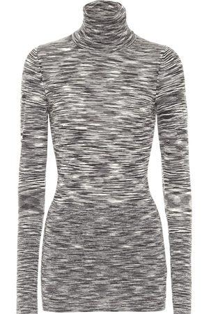 Joseph Printed wool turtleneck top