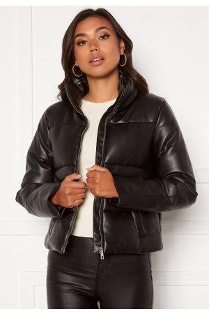 JACQUELINE DE YONG Trixie Faux Leather Jacket Black S