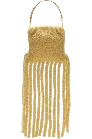 Bottega Veneta Curly Shearling Fringed Clutch