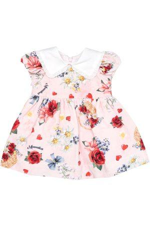 MONNALISA Baby floral velvet dress