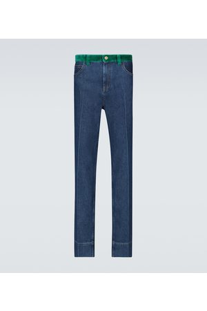 WALES BONNER Dub Contrast waistband jeans
