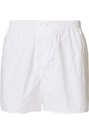 DEREK ROSE Miehet Bokserit - Classic Fit Cotton Boxer Shorts White
