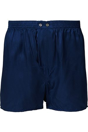 DEREK ROSE Miehet Bokserit - Classic Fit Silk Boxer Shorts Navy