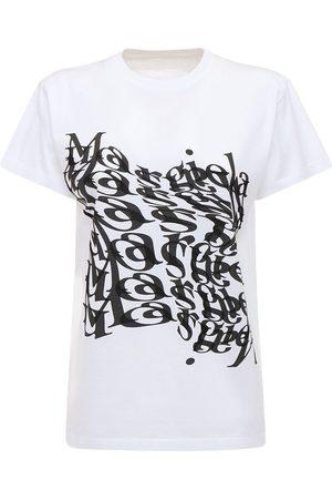 Maison Margiela Logo Printed Cotton Jersey T-shirt