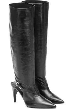 Jil Sander Cut-out knee-high leather boots