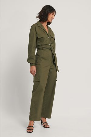 NA-KD Utility-Jumpsuit - Green