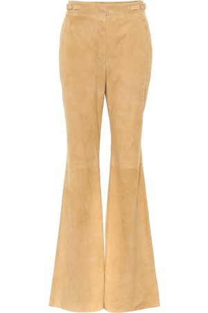 GABRIELA HEARST Vesta high-rise suede flared pants