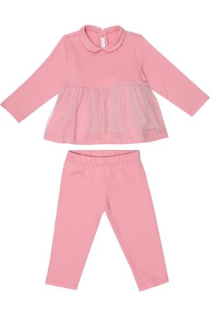 Il gufo Baby cotton top and pants set