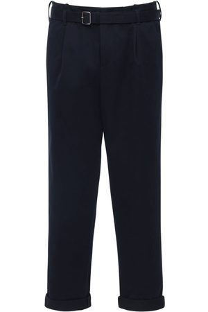 Neil Barrett Microwave Stretch Cotton Pants W/ Belt