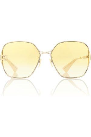 Gucci Oversized wire sunglasses