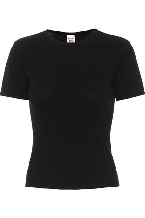 RE/DONE Ribbed cotton T-shirt