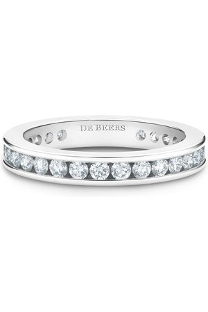 De Beers Platinum channel-set diamond eternity band