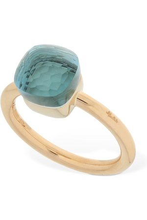 Pomellato Naiset Sormukset - Nudo 18kt Thin Ring W/ Blue Topaz