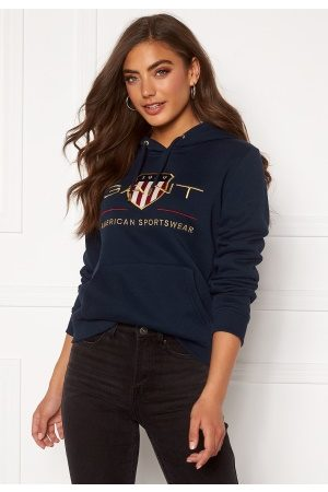 GANT Archive Shield Sweat Hoodie 433 Evening Blue M