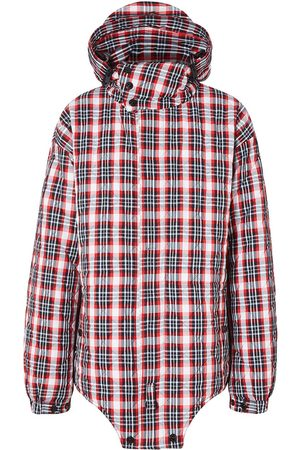 Burberry Check-print parka jacket