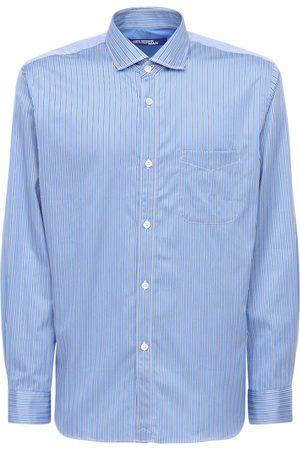 JUNYA WATANABE Stripe & Check Cotton Poplin Shirt