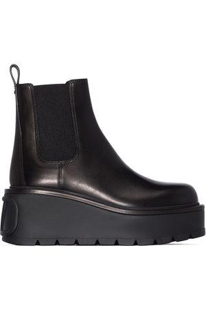 VALENTINO GARAVANI Uniqueform 85 flatform chelsea boots