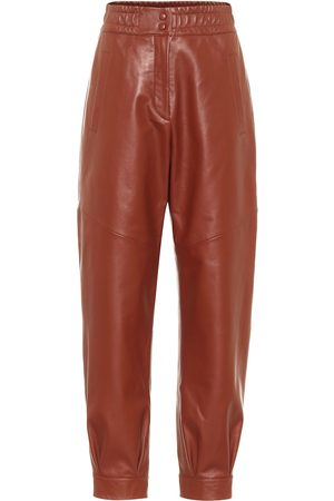 Common Leisure Chilling leather trackpants