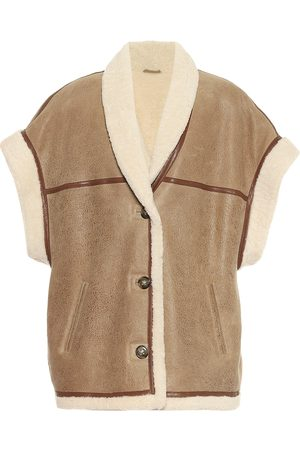 Isabel Marant Adelia leather and shearling vest