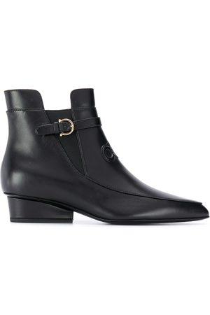 Salvatore Ferragamo Gancini-logo 40mm ankle boots