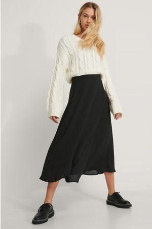 NA-KD Midi Wrap Skirt - Black