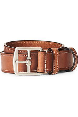 Anderson's Miehet Vyöt - Bridle Stiched 3,5 cm Leather Belt Tan