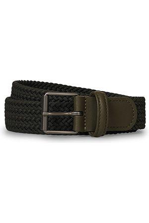 Anderson's Miehet Vyöt - Elastic Woven 3 cm Belt Military Green