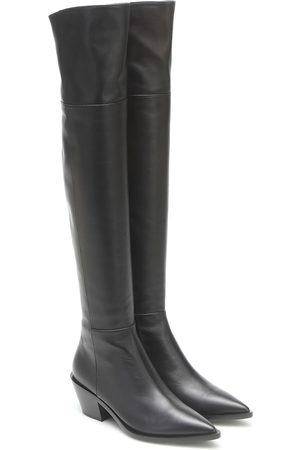 Gianvito Rossi Leather over-the-knee boots