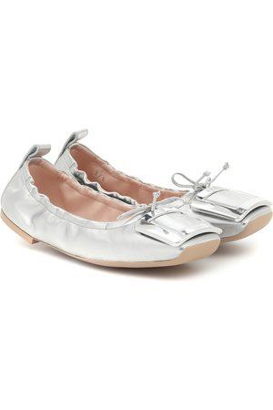 Roger Vivier Naiset Balleriinat - Viv' Pockette leather ballet flats