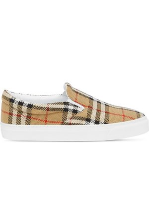 Burberry Naiset Tennarit - Vintage Check slip-on sneakers