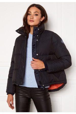 GANT Jacquard Word Down Jacket 433 Evening Blue M