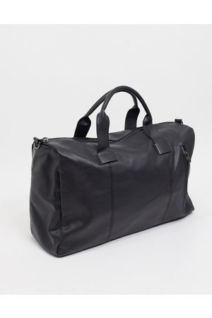 French Connection Faux leather classic holdall bag in black
