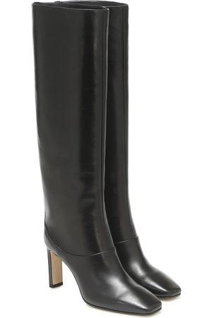 Jimmy Choo Mahesa 85 leather knee-high boots