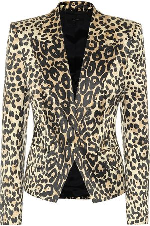 Tom Ford Naiset Bleiserit - Leopard-print cotton-blend blazer