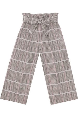 Brunello Cucinelli Kids Checked stretch-cotton paperbag pants