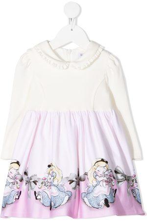 MONNALISA Vauvat Rennot Mekot - Disney print skater dress