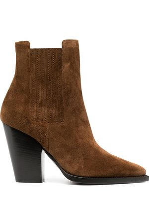 Saint Laurent Theo chunky-heel ankle boots