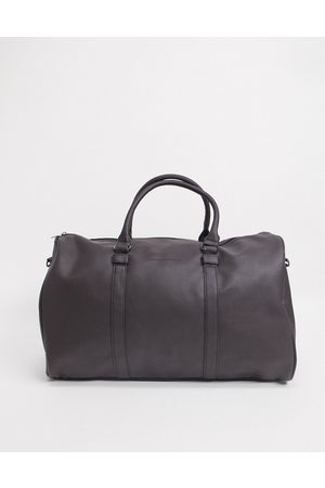 French Connection Faux leather weekend holdall bag in brown