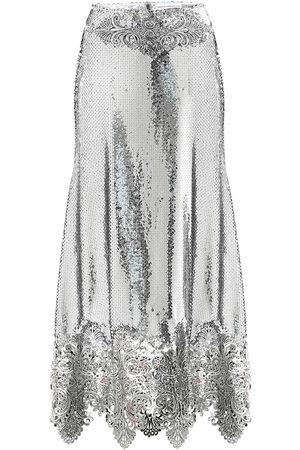 Paco rabanne Sequined high-rise midi skirt