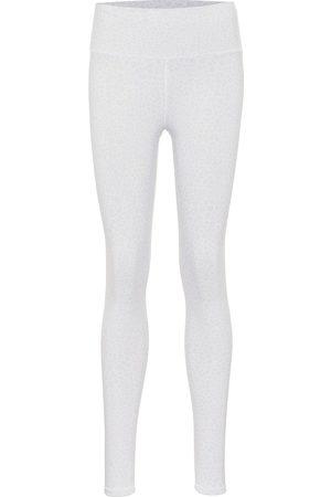 alo Naiset Leggingsit - Vapor leopard-print high-rise leggings