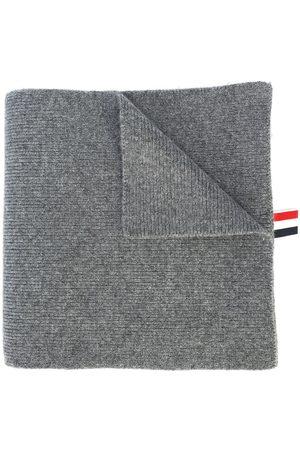 Thom Browne Miehet Huivit - 4-Bar Stripe Cashmere Rib Scarf