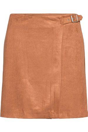 Banana Republic Vegan Suede Wrap Mini Skirt Lyhyt Hame