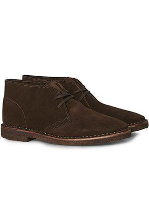 Drake's Miehet Nilkkurit - Clifford Suede Desert Boots Dark Brown