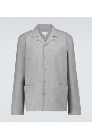 Sunspel Cotton long-sleeved pajama shirt