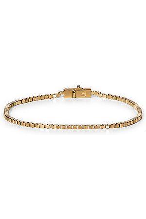 TOM WOOD Miehet Rannekorut - Square Bracelet Gold