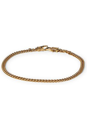 TOM WOOD Miehet Rannekorut - Curb Bracelet M Gold