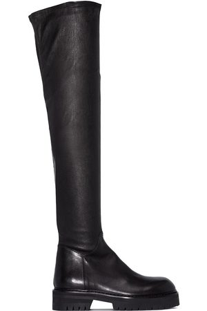 ANN DEMEULEMEESTER Thigh-high leather boots